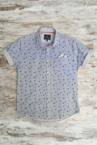 S19S021    0003 SHIRT SPRING SHORT SLEEVES - 98%CO 2%EA Royal