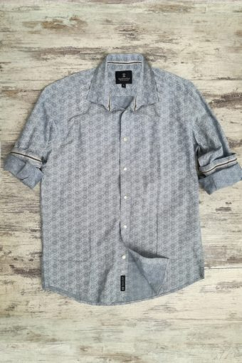 S19S022    0045 SHIRT FANCY - 97%CO 3%EA Light Blue