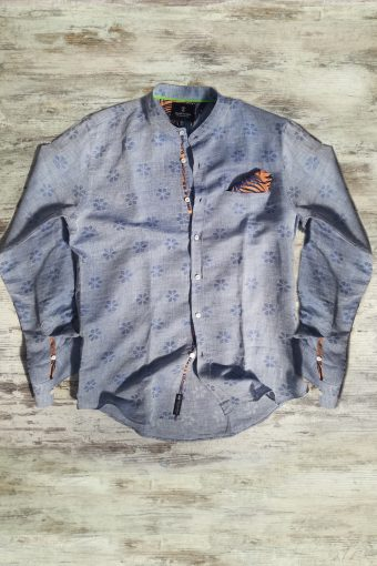 S19S023K   0002 SHIRT CAMOGLI - 61%LI 39%CO Blue