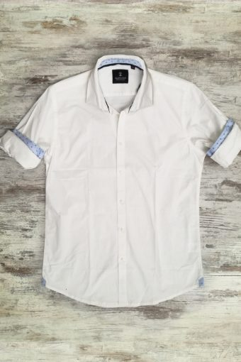 S19S025    0050 SHIRT PLAIN - 98%CO 2%EA Ice Flow - Optical White