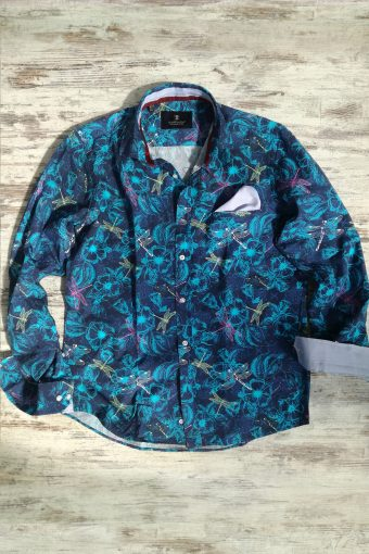 S19S029    0002 SHIRT MAYFLY - 100%CO Blue