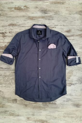 S19S037    0002 SHIRT DARKNESS - 100%CO Blue