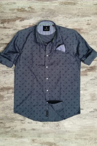 S19S038    0042 SHIRT SAILOR - 98%CO 2%EA Dark Denim - Blue