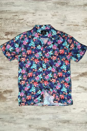 S19S043    0002 SHIRT HAWAII - Blue
