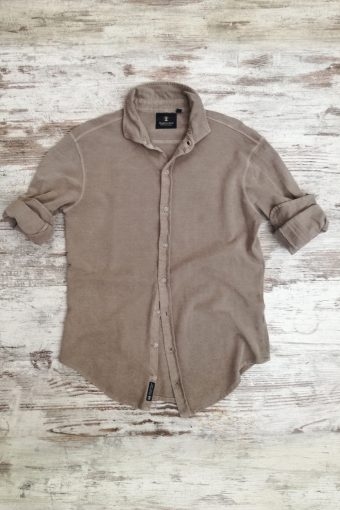 S19S045    0040 SHIRT PIQUET - 100%CO Brown