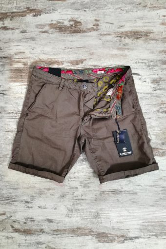 S19SH001   0040 CHINO SHORT BASIC - 100%CO Brown