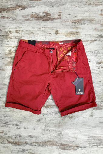 S19SH001   0094 CHINO SHORT BASIC - 100%CO Red