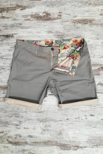 S19SH003   0006 CHINO SHORTS AOP - 98%CO 2%EA Cream