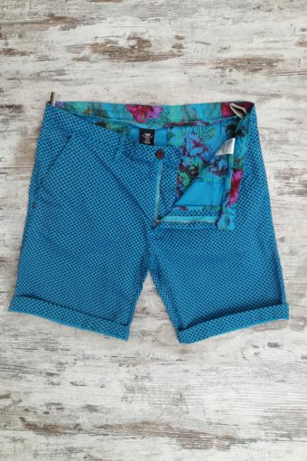 S19SH004   0045 CHINO SHORTS AOP - 98%CO 2%EA Light Blue