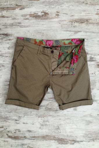 S19SH005   0040 CHINO SHORTS AOP - 98%CO 2%EA Brown