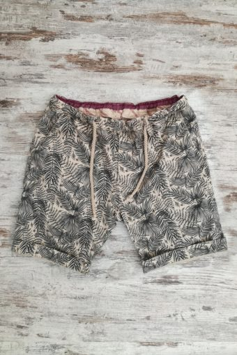 S19SH007   0038 JOGGER SHORTS AOP - 98%CO 2%EA Sand