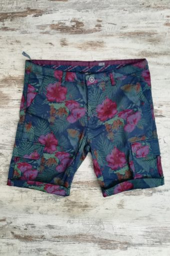 S19SH009   0002 CARGO SHORTS TROPICAL - 98%CO 2%EA Blue