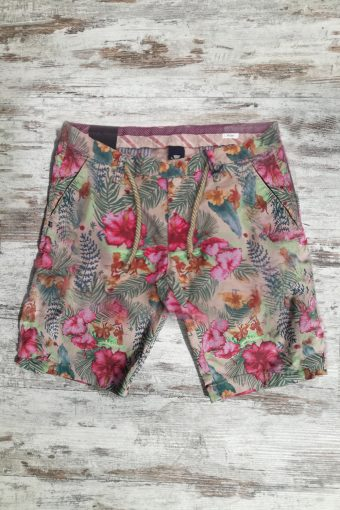 S19SH009P  0096 JOGGER SHORTS TROPICAL - 98%CO 2%EA Dark Beige
