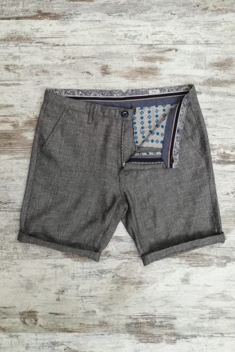 S19SH013   0009 CHINO SHORTS Y/D - 100%CO Dark gray