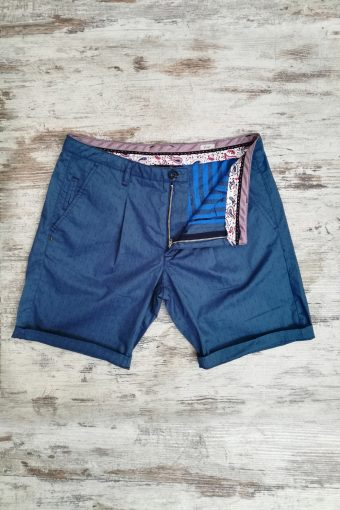 S19SH014   0003 CHINO SHORTS JACQUARD - 98%CO 2%EA Royal