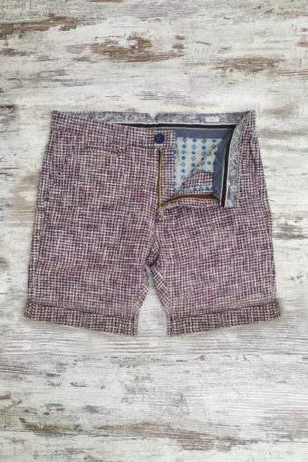 S19SH016   0083 CHINO SHORTS DESEN - 45%PES 40%CO 15%VI Bordeaux