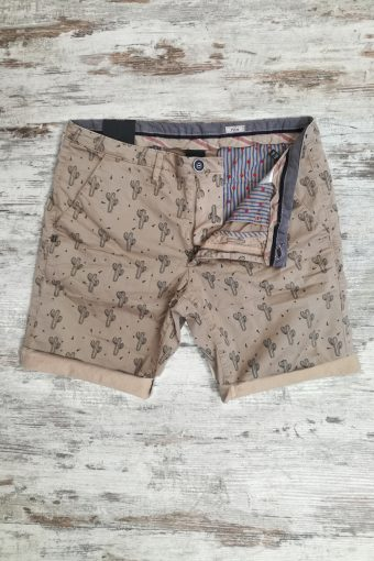 S19SH029   0096 CHINO SHORTS CACTUS - 98%CO 2%EA Dark Beige