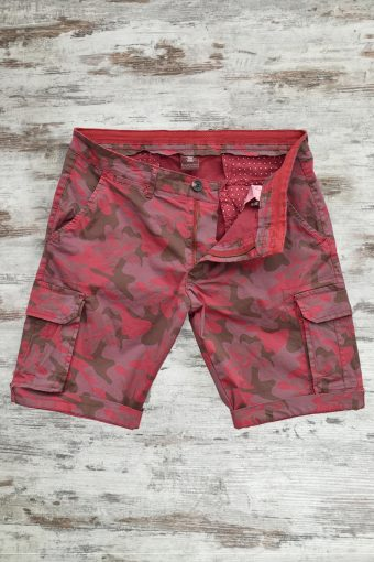 S19SH030   0105 CARGO CAMOUFLAGE - 98%CO 2%EA Ruby Light Red