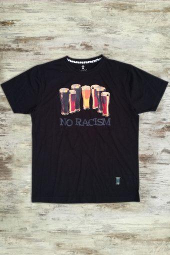 S19T004    0090 T-SHIRT NO RACISM - 100%CO Black