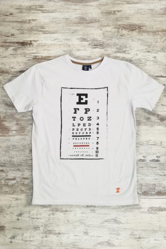 S19T008    0050 T-SHIRT OPTICAL - 100%CO Ice Flow - Optical White