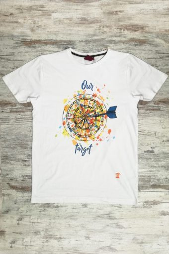 S19T011    0050 T-SHIRT TARGET - 100%CO Ice Flow - Optical White