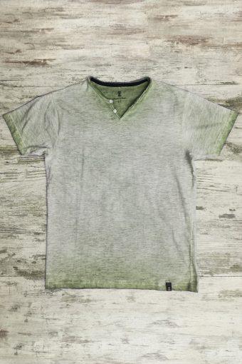 S19T031    0071 T-SHIRT VINTAGE - 100%CO SLUB Military Green