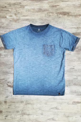S19T032    0002 T-SHIRT LINEE - 100%CO Blue