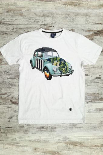 S19T047    0050 T-SHIRT CAR - 100%CO Ice Flow - Optical White