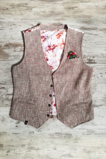 S19G030    0083 GILET SUMMER - 50%CO 40%PES 10%VI Bordeaux