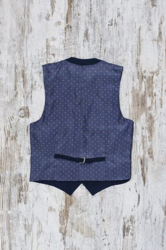 A19MG028   0002 GILET RIB - 98%CO 2%EA Dark Blue