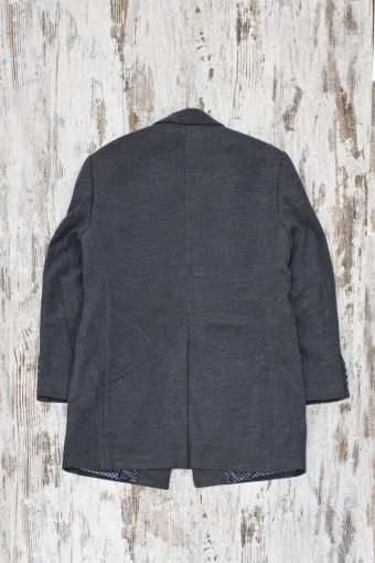 A19MJ028   0001 OVERCOAT BASIC - 70%PL 27%VI 3%EA Anthracite
