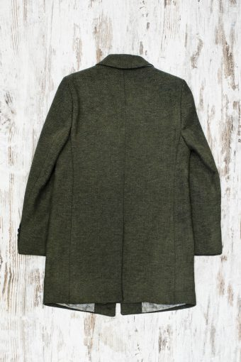 A19MJ029S  0053 OVERCOAT HERRINGBONE VINTAGE - Army Green - Beetle
