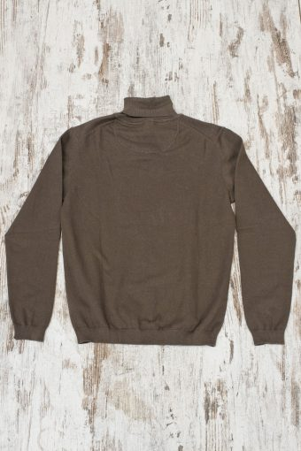 A19MM003   0069 SWEATER TURTLENECK BASIC - 80%CO 20%NY Cord - Squirrel