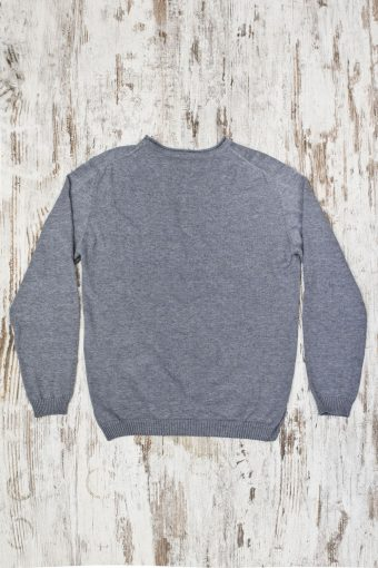 A19MM005   0037 SWEATER ROUND NECK SPECIAL - 70%CO 15%PA 10%WO 5%SE Gray Melange