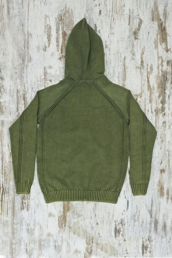 A19MM029   0053 SWEATER ACID HOODY - 100%CO Army Green - Beetle