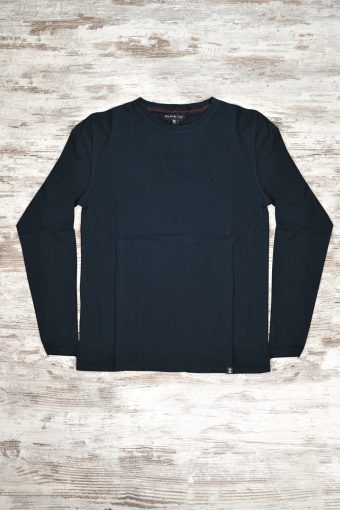 A19MT055L  0002 T-SHIRT BASIC LONG SLEEVES - 100% JERSEY CO 30/1 PEACHED OUTSIDE Dark Blue
