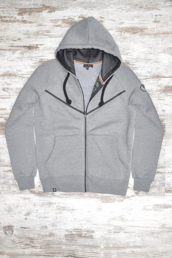A19MF003   0037 FLEECE ZIP BASIC - 80%CO 20%PL Gray Melange