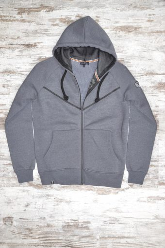 A19MF003   0137 FLEECE ZIP BASIC - 80%CO 20%PL Anthracite Melange