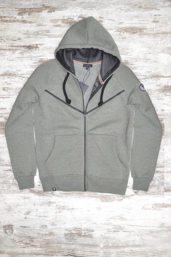 A19MF003NW 5337 FLEECE ZIP BASIC WITHOUT WINDSTOPPER - 80%CO 20%PL Army Green Menlange