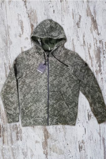 A19+MF009  7169 FLEECE CAMOUFLAGE - 40%PL 40%CO 20%AC Military Green Camou
