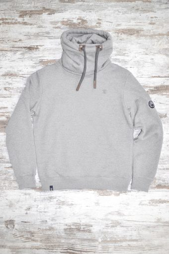 A19MF012NW 0037 FLEECE ROLL-NECK WITHOUT WINDSTOPPER - 80%CO 20%PL Gray Melange