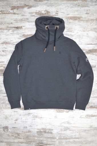 A19MF012NW 0137 FLEECE ROLL-NECK WITHOUT WINDSTOPPER - 80%CO 20%PL Anthracite Melange
