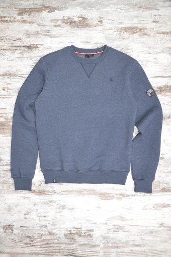 A19MF013   0237 FLEECE BASIC - 80%CO 20%PL Dark Blue Melange