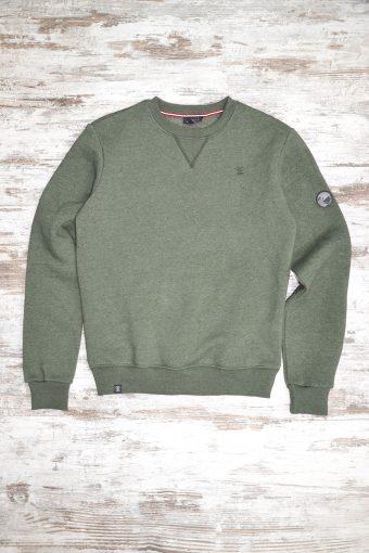 A19MF013   5337 FLEECE BASIC - 80%CO 20%PL Army Green Menlange