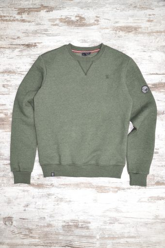 A19MF013NW 5337 FLEECE BASIC WITHOUT WINDSTOPPER - 80%CO 20%PL Army Green Menlange