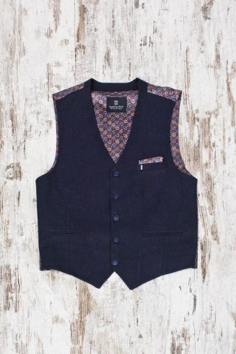 A19MG020   0002 GILET PERA - 76%CO 20%CV 3%WO 1%EA Dark Blue