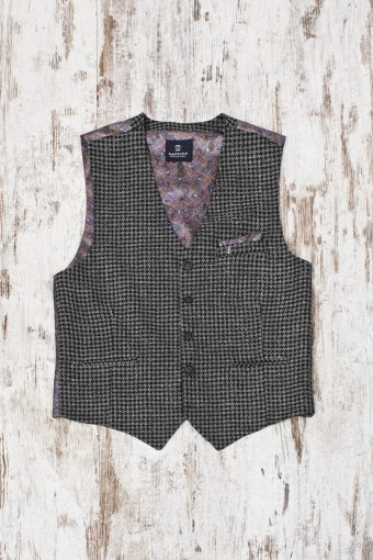 A19MG025   0001 GILET BERNARDO CHECK - 44%CO 12%PAN 28%VI 5%WO 11%PES Anthracite