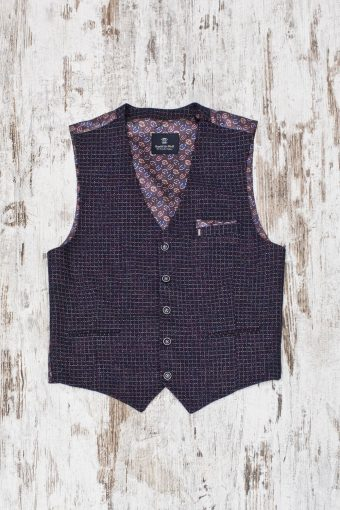 A19MG039   0002 GILET STAR - 63%CO 11%PAN 18%WO 8%VI Dark Blue