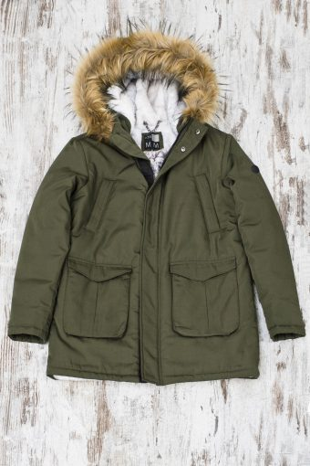 A19+MJ001  0071 PARKA WOLF - 100%PL Military Green