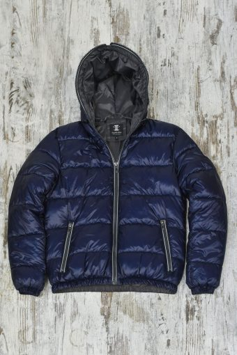 A19MJ012   0002 FAKE-DOWN HOODY - 100%NY Dark Blue